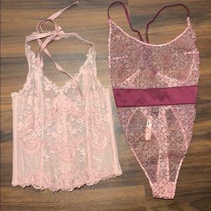 NWT Victoria's Secret bodysuit lingerie lace sexy